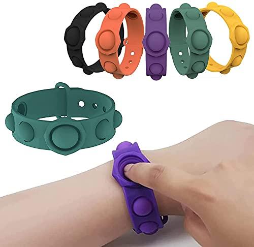 ZQSLZWZW Pulsera De Juguete con Burbujas Sensoriales De Empuje, Juguete Sensorial PortáTil De Hoyuelos Simple para Hombres Y Mujeres Que Alivia El EstréS Verde