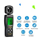 Digital Anemometer, Handheld Digital Anemometer, 0.3-30m/s Wind Speed Gauge with Temperature Air Flow