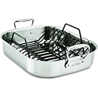 All-Clad Stainless Steel 13 x 16 Inch Roaster with Nonstick Rack