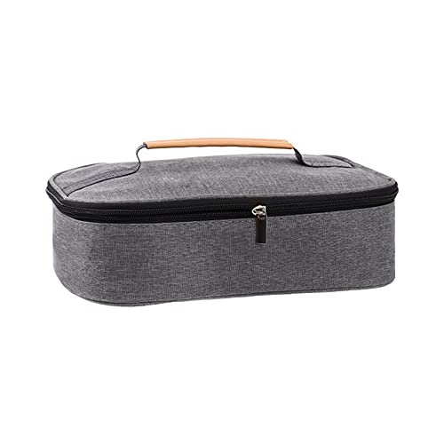 OIHODFHB Bolsa de picnic, bolsa de aislamiento térmico portátil, caja de almuerzo cálida engrosada de papel de aluminio con bolsa de arroz, bolsa de almuerzo impermeable, bolsa de almuerzo