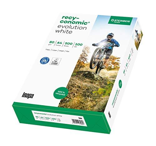 inapa Recycling-Druckerpapier Recyconomic evolution white: 80 g/m ², A4, 500 Blatt, weiß