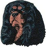 VirVenture Cavalier King Charles Spaniel Head Portrait Dog Breed Embroidery Patch Great for Hats, Backpacks, and Jackets.