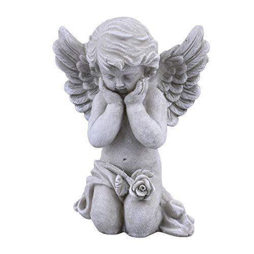 Dadeldo Home Engel Classica Deko-Figur Resin 18x14x9cm grau