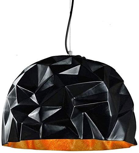 Chandelier de Acero Creativo Black Retro Dormitorio Luces Colgante Industria Hierro Lámpara Colgante Luces Estados Unidos Metal Techo Araña Restaurante Café Iluminación 15.7 * 11.8
