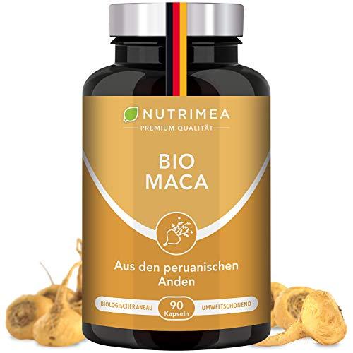 NUTRIMEA® MACA BIO aus Peru | Reines Maca Wurzel-Extrakt | 100% Vegan + OHNE Zusätze | 1500 mg/Tag Pflanzliche Pulver Kapseln Hochdosiert SUPERFOOD Energie Kraft Muskelaufbau Ausdauer Frauen Männer
