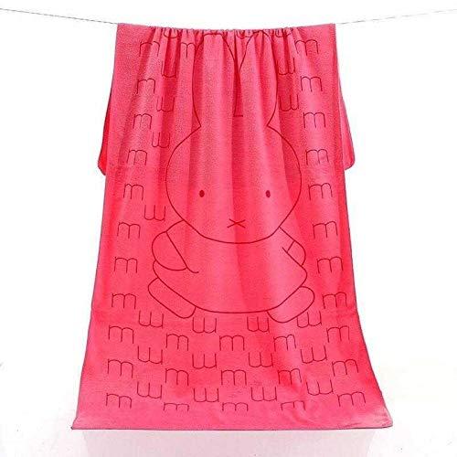 Badhanddoek Konijnenprint, Babyhanddoeken Microvezel Handdoek 0 Roze [Nijntje Konijn]