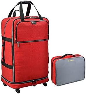 Biaggi Zipsak Micro-Fold Spinner Suitcase - 31-Inch - As Seen on Shark Tank - Red