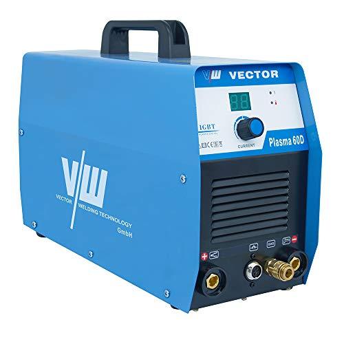 Plasmaschneidgerät Plasmaschneider Cutter Cut mit 60 Ampere + Überhitzungsschutz + Kontaktzündung + digitales Anzeigen Display + Schneidet bis 20 mm von Vector Welding