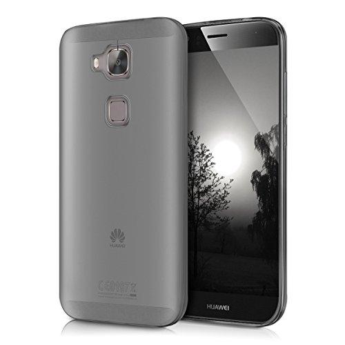 kwmobile Hülle für Huawei G8 / GX8 - Ultra Slim Case Handy Schutzhülle TPU Silikon - Backcover Cover Schwarz Transparent