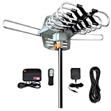 TV Antenna-Outdoor Digital Amplified HDTV Antenna -150 Miles Long Range Support 2...