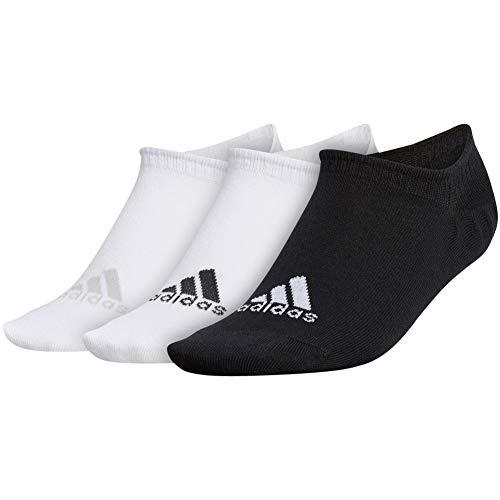 adidas Golf Golf Women s No-Show Socks, White Black, One Size Fits All