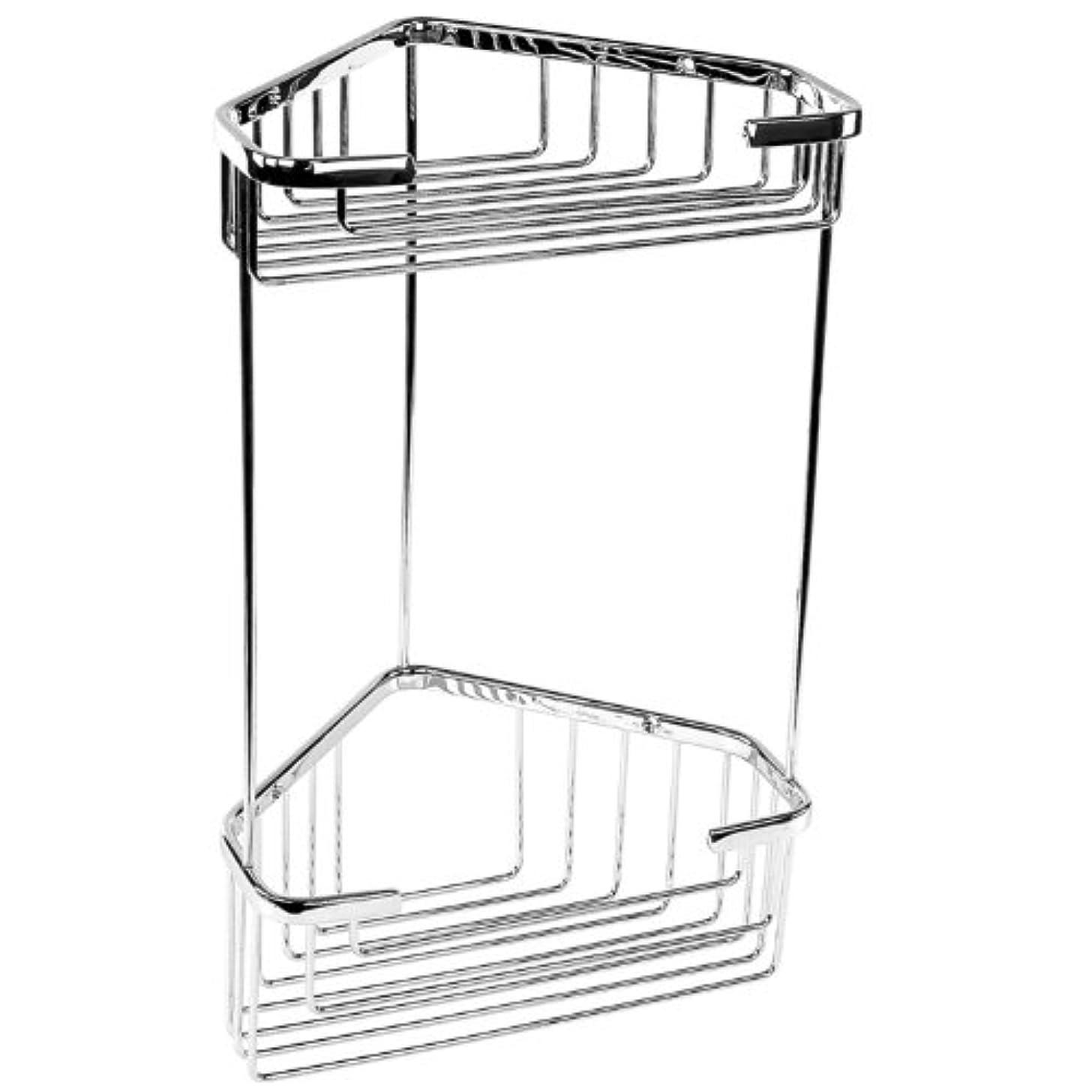 Gedy Gedy 2482 Gedy 2482 Wire Corner Double Shower Basket,Chrome