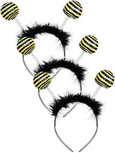 3 Piezas Diadema de Tentáculo de Abeja Banda de Cabello de Antena de Abeja Adorno de Cabeza de Disfraz de Abejorro para Mujeres Niñas Fiesta de Halloween ()
