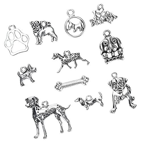 Colgante de joyería para perros, suministros para manualidades, colgante de collar de bricolaje a la moda, portátil para amigos para manualidades de bricolaje