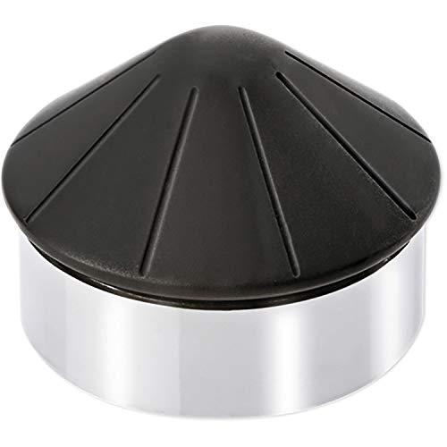 BURG-WÄCHTER Boden-Türstopper Kegel, Höhe: 62 mm, Durchmesser: 85 mm, Gewicht: ca. 1050 g, TSB 2585 CR, Chromstahl