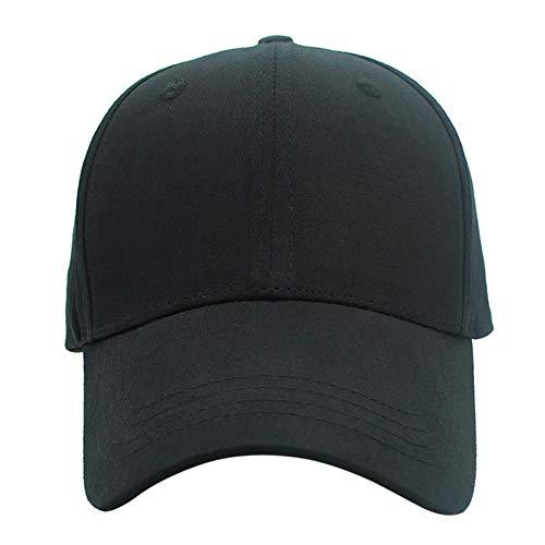 XMYNB Gorra de béisbol de calidad para hombre y mujer, de algodón casual, gorra de béisbol para primavera y verano, color negro, ajustable