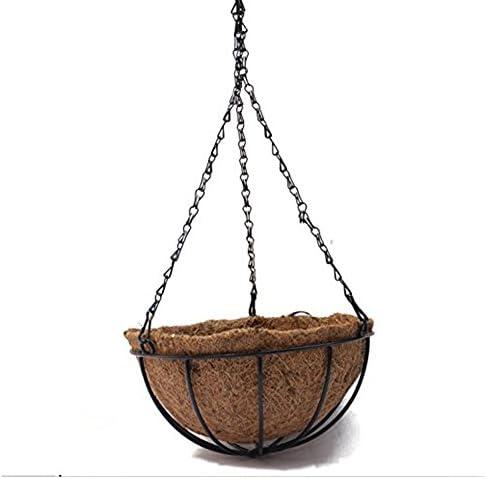 Singeru Fioriera in fibra di cocco naturale con gancio a catena