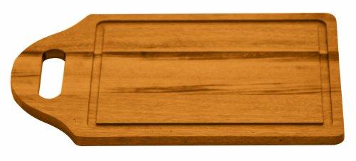 Tramontina 10268/920 - Tabla de Cortar Cuadrada con Mango y surco, Fabricada en Madera con estándar FSC