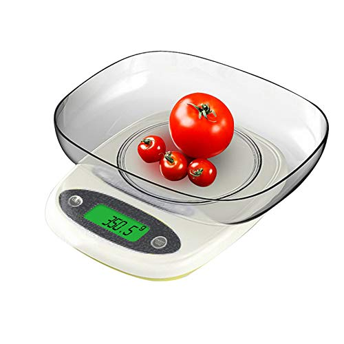 XIAOL 7kg/1g 3kg/0.1g Draagbare Elektronische Schalen Digitale LED Keuken Koken Voedsel Met Bowl Weegschaal Meetgereedschappen, 3kg-0.01g