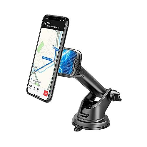 Baker Soporte magnético para teléfono móvil para coche, rotación de 360°, con ventosa y almohadilla adhesiva, para salpicadero y parabrisas, compatible con iPhone, Samsung, Huawei
