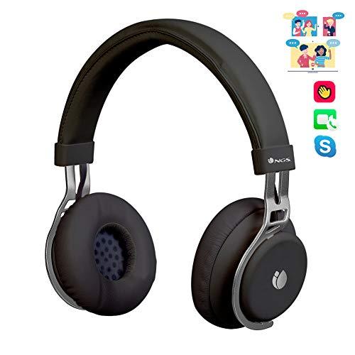 NGS ARTICA Lust Black - Auriculares Inalambricos Bluetooth con microfono, 10h de bateria, Negro