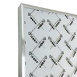 Marco de fotos clásico, marco de metal para fotos de aluminio cuadrado, marco de fotos para colgar en la pared, marco de certificado de decoración de fotos (color: Silvery Frame, tamaño: 30 x 40 cm)