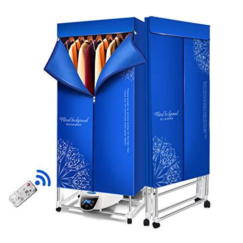 RXBFD Secadora de Ropa eléctrica Plegable, Secadora de Ropa portátil de 2 Niveles, Secado rápido, Armario de Estante de Ahorro de energía (anión), para Apartamentos