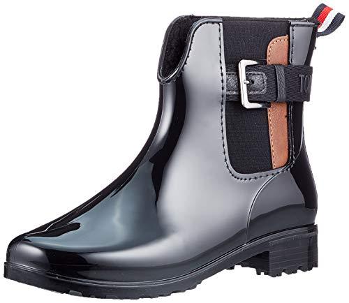 Tom Tailor Womens 9092306 Rain Boot Bootie Boot, Black, 4.5 UK