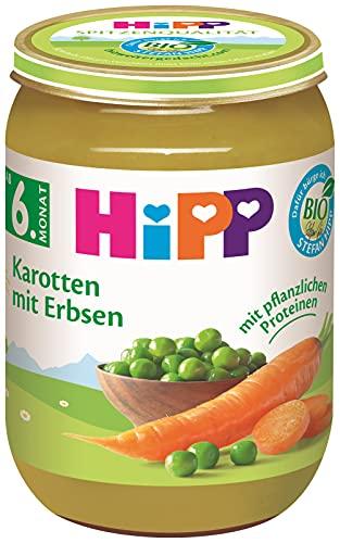 Hipp Bio Gemüse Karotten mit Erbsen, 190 g