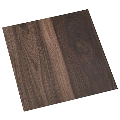 vidaXL 55x PVC-Fliesen Selbstklebend Vinyl-Fliesen Bodenbelag Vinylboden Laminat Dielen Laminatboden Fußboden Fliese Wohnzimmer 5,11m² Dunkelbraun