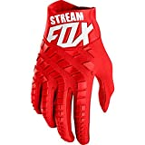 Houer Stream Fox Guantes de Motocross Guantes Superiores de Moto Moto Mountain Bike MTB Glove Drit Bike Gloves, Rojo, L