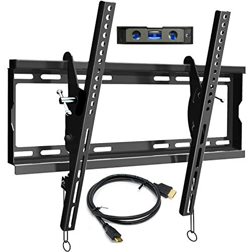 BLUE STONE TV Wall Mount Bracket Tilt Low Profile for Most 23-60 inch Flat Screen, LED, LCD,4K, Curved TVs, with Max VESA 400x400mm Holds up to 125lbs and Fits 8' 12' 16' Studs