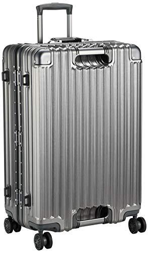 [シフレ] ハードフレームスーツケース 大型 Lサイズ 1年保証付き GripMaster グリップマスター TRIDENT トライデント 保証付 85L 67 cm 5.9kg チタン/チタン