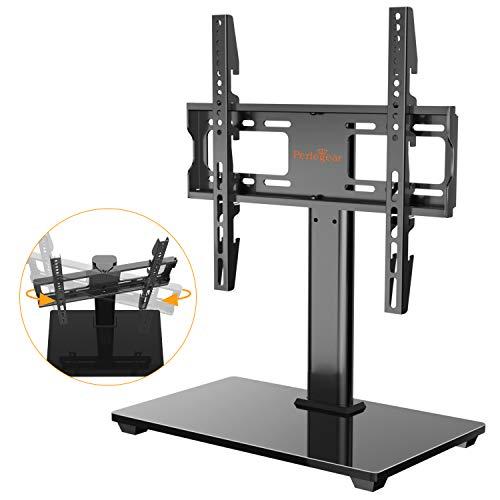 TV Standfuß, Schwenkbarer TV Ständer für 32-55 Zoll OLED LCD Flach & Curved Fernseher oder Monitore bis zu 40kg. Max.VESA 400x400mm