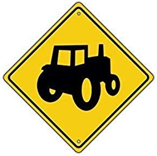 LilithCroft99 Tractor Symbol Farm Machinery Crossing Traffic Xing Signs Aluminum Metal Signs Vintage Warning Signs for Home Decor Yard Gate Sign 12