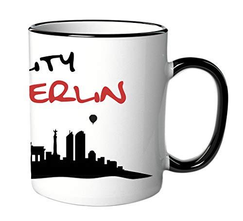 Città tazza/tazza con scritta I Love My City Berlin–con skyline