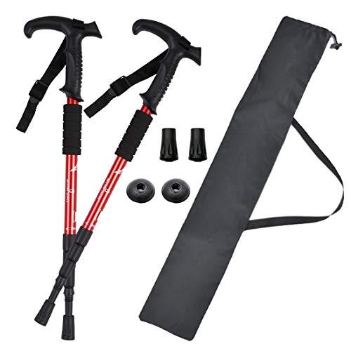 BEATON JAPAN トレッキングポール ウォーキングポール 登山 ストック ステッキ杖 軽量 2本セット ケース付