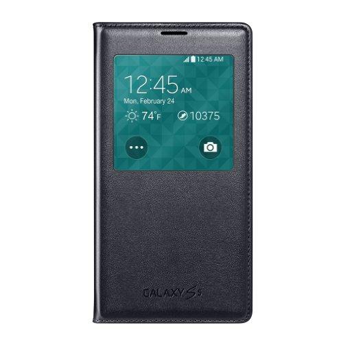 Samsung Galaxy S5 Wireless Charging Case S View Flip Cover Folio - Black