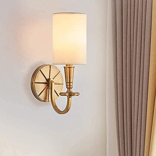 Retro simple de la pared de la pared de la pared de la pared de cobre llena de la lámpara de pared de oro de la luz del hotel de la sala de estar de la habitación del dormitorio de la cama de la cama