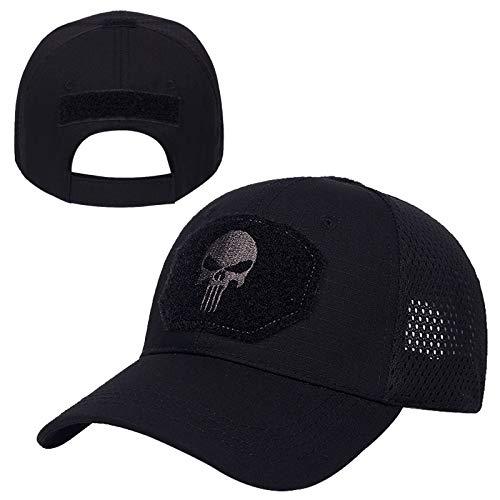 WAZHX Moda Hombres Gorra De Béisbol Gorras Tácticas del Ejército Deporte Al Aire Libre Gorra Militar Sombrero De Camuflaje Sombreros De Hip Hop Algodón Sombreros De Sol Salvaje Negro