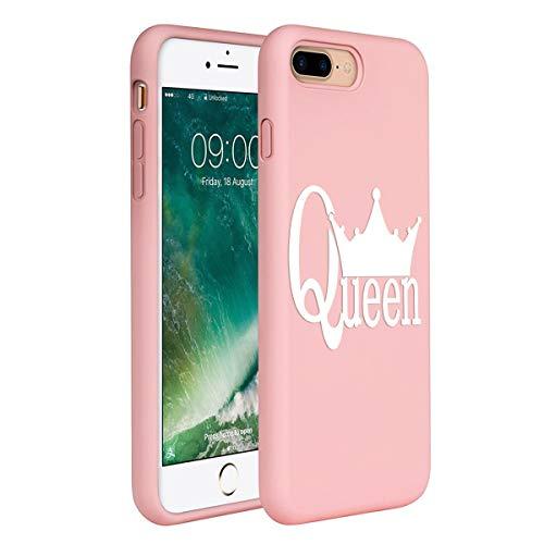ZhuoFan Cover iPhone 7 Plus /8 Plus, Custodia Cover Silicone Rosa con Disegni Ultra Slim TPU Morbido Antiurto 3D Cartoon Bumper Case Protettiva per iPhone 7 Plus /8 Plus, Queen