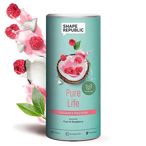 Shape Republic Veganes Protein Isolat Coco Raspberry (420g), Eiweißpulver zum nachhaltigen Muskelaufbau
