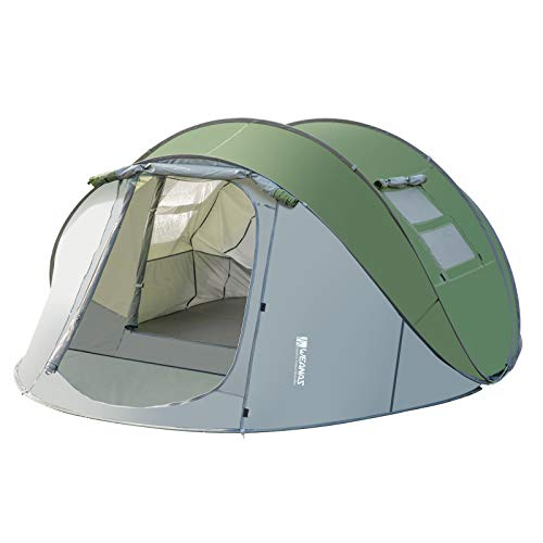 Weanas Easy Pop Up Tents with Vestibule, Instant Automatic 4-6 Person Family Camping Tents Easy Quick Setup Dome Popup Tents for Camping, Hiking and Traveling with Carrying Bag