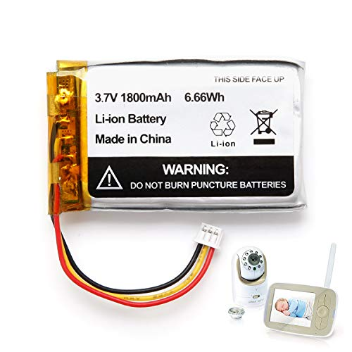 1800mAh Replacement Battery for Infant Optics DXR-8 Video Baby Monitors (1 Pack)