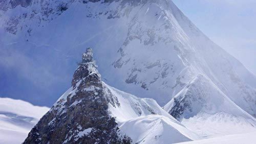 CZYSKY Observatorio Esfinge, Suiza, Rompecabezas De 35 Piezas Puzzle Juguete De Madera (15 * 9.9Cm)