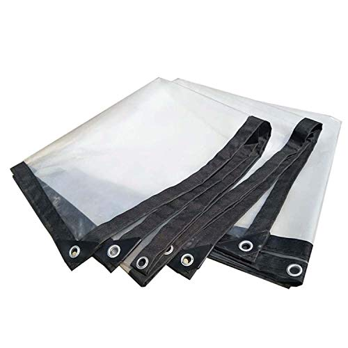 ADELALILI Lonas Tarps Clear Peatorio Tarifa Clear Traps Impermeable Transparente con Ojales Lona JardíN Aire Libre para Plantas Overhouse Pet Hutch Roof (Tamaño : 1mX2m/6.5x3.3ft)