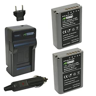 Wasabi Power Battery (2-Pack) and Charger for Olympus BLN-1, BCN-1 and Olympus OM-D E-M1, OM-D E-M5, PEN E-P5 (B0084FM5JC) | Amazon price tracker / tracking, Amazon price history charts, Amazon price watches, Amazon price drop alerts