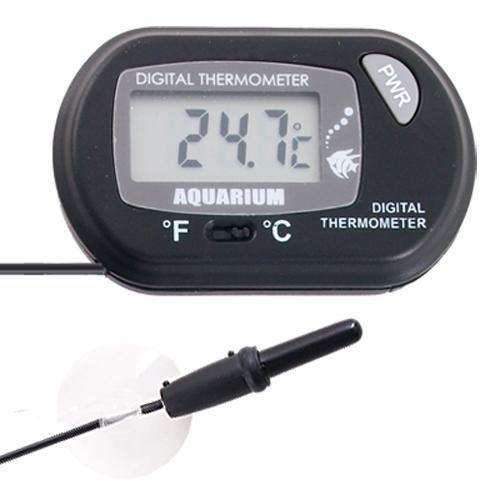PWR Thermomètre numérique écran LCD pour aquarium avec ventouse pour température de -50°C à +70°C