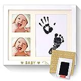Baby-Handabdruck- / Fußabdruck-Kit Neugeborener Fotorahmen, Hunde- / Haustierpfoten-Druck-Kit mit Clean Touch-Stempelkissen, 1 PCS-Aufkleber und 1Mehr traditioneller Tinte