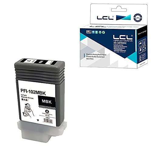 LCL Canon用 キャノン用 PFI-102 PFI-202 PFI-102MBK 130ML (1パック MBK) 互換インクカートリッジ 対応機種:Canon IPF500/IPF510/IPF510plus/IPF600/IPF605/IPF605plus/IPF610/IPF610plus/IPF650/IPF700/IPF710/IPF655/IPF720/IPF750/IPF755/IPF760/IPF765/LP17/LP24/IPF-866/LP39
